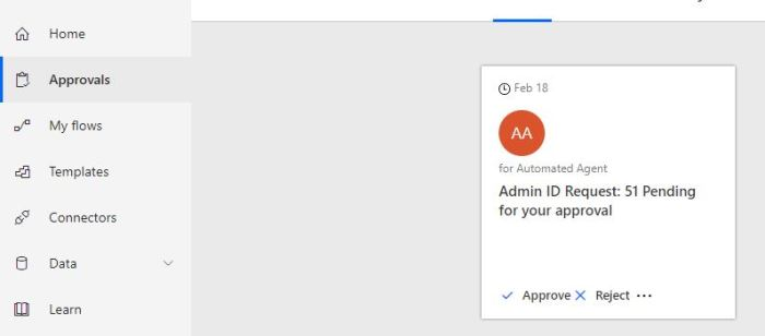 Microsoft Flow Approval Work flow with comments |